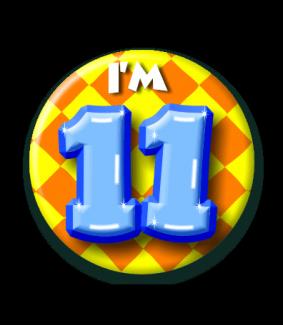 11 jaar Button 11 jaar   Feestgeest 11 jaar