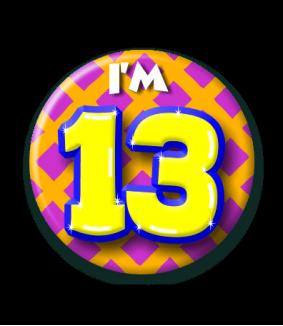 13 jaar Button 13 jaar   Feestgeest 13 jaar