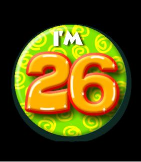 26 jaar Button 26 jaar | Feestgeest 26 jaar