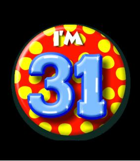 31 jaar Button 31 jaar | Feestgeest 31 jaar