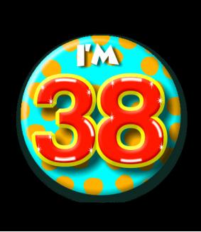 38 jaar Button 38 jaar | Feestgeest 38 jaar