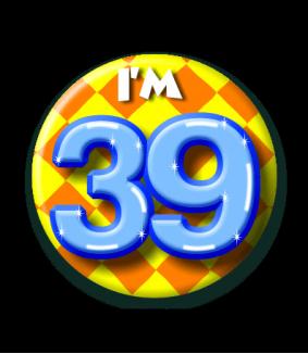 39 jaar Button 39 jaar | Feestgeest 39 jaar